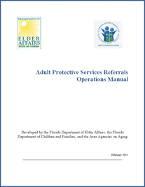 Adult Protective Services Manual Cover Page