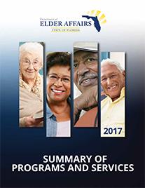 Florida Department of Elder Affairs Program Manual Cover